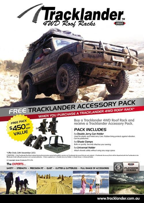Tracklander Special Flyer NOV 011 Need a roof rack for your 4WD?