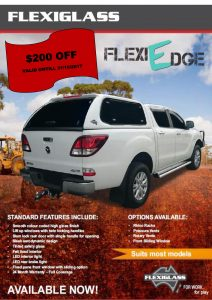 FlexiEdge Special 200 off brochure 31st Oct 2017 212x300 Flexiglass FlexiEdge Canopy Clearance